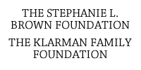 The Stephanie L Brown Foundation; The Klarman Family Foundation