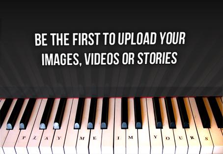 Se el primero en subir tus imágenes, videos o historias